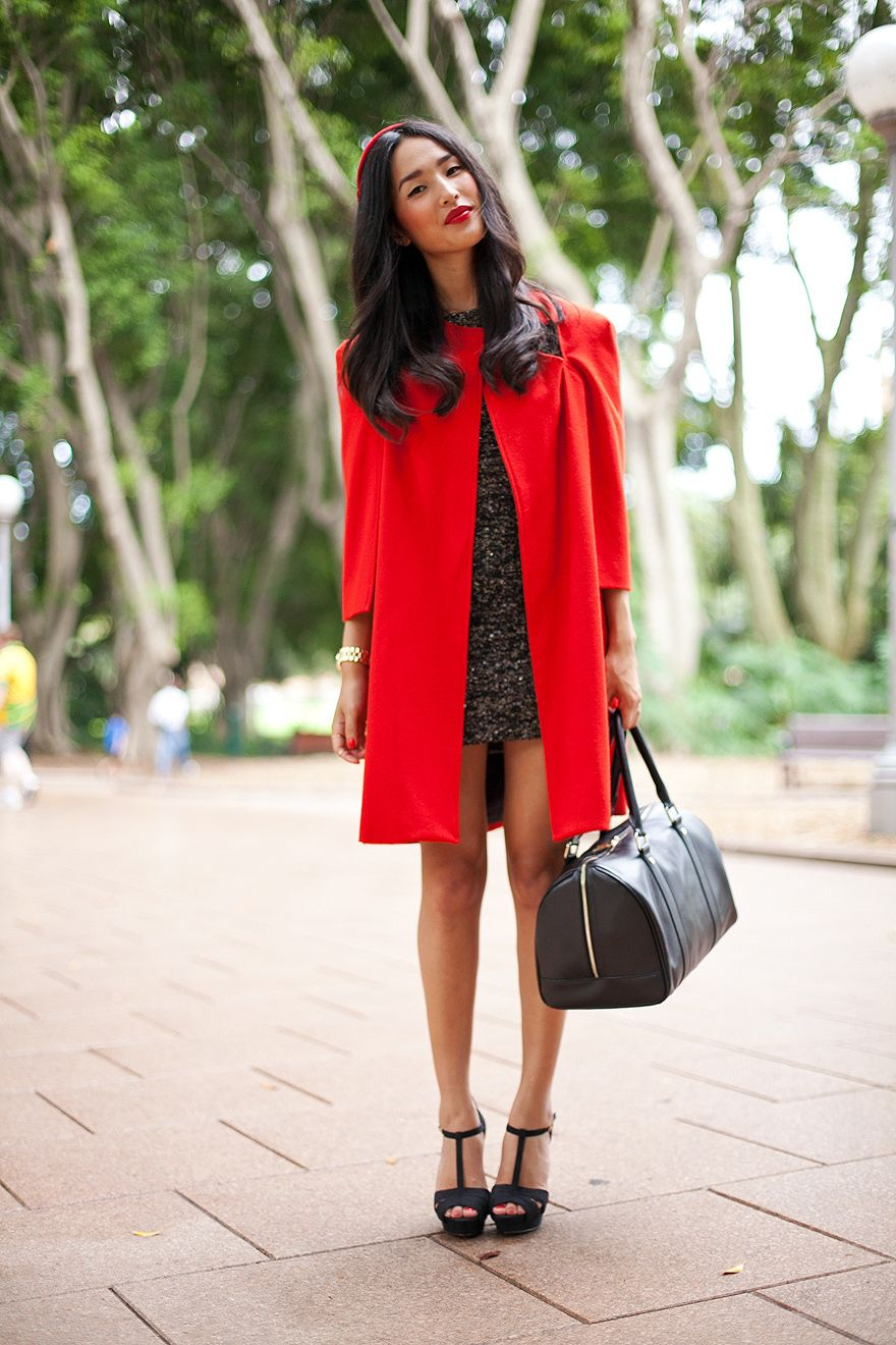 Red love at KG Street Style
