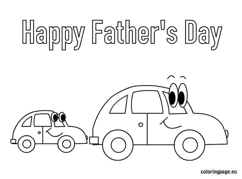 Happy Fatheru0027s Day cars coloring page Teacher stuff Pinterest - new christmas coloring pages for grandparents