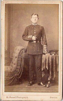 CDV photo Soldat - Berlin 1870er