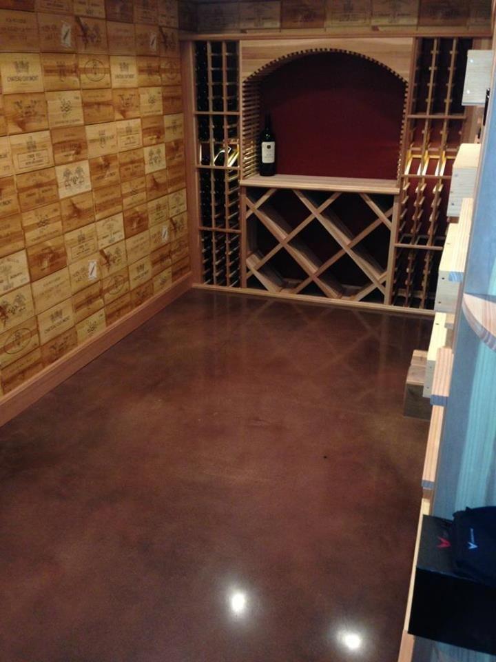 Gorgeous Wine cellar floor using Surfkoatu0027s interior color dyes. #concrete #classic #wine & Gorgeous Wine cellar floor using Surfkoatu0027s interior color dyes ...