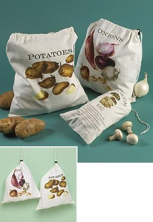 Potato Onion Mushroom Storage Bags
