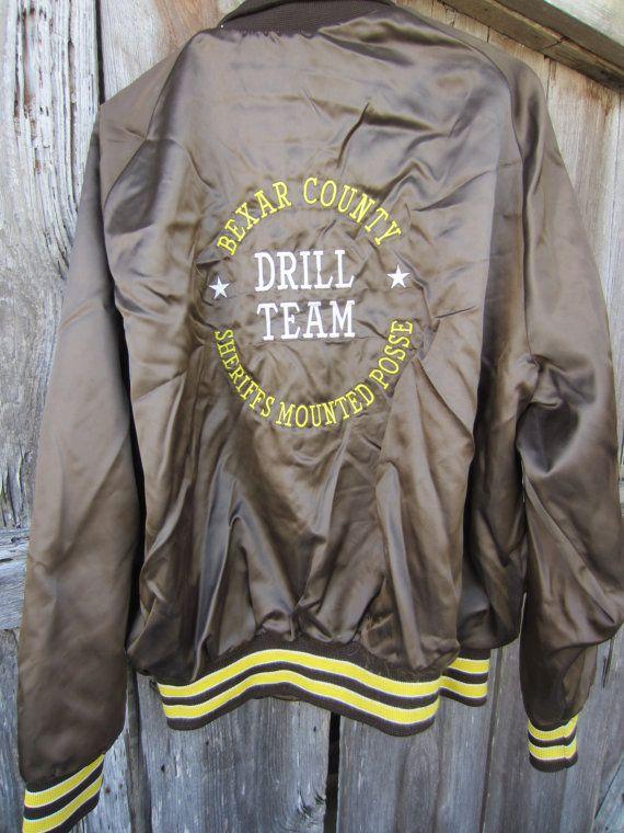 70s Black Baseball Jacket by Auburn Sportswear Men&39s L Women&39s