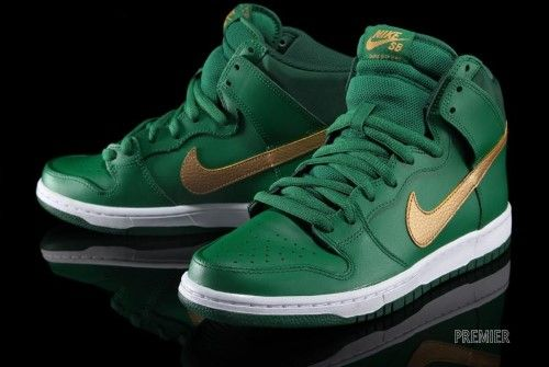 best cheap 8a436 8d6bc Nike SB Dunk High Pro (Pine Green Metallic Gold-Gorge Green)