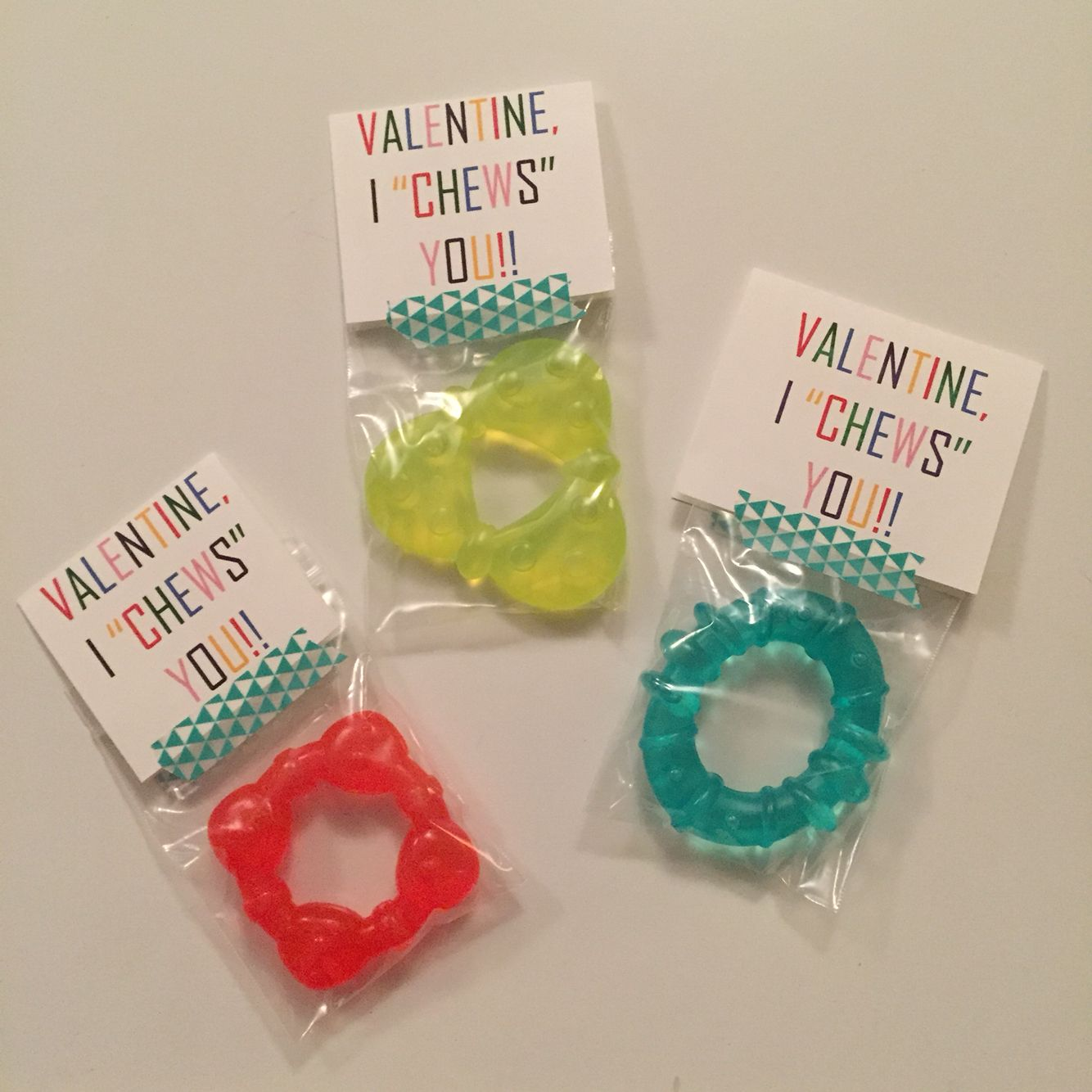 Baby Valentines Using Teethers I Chews You Toddler Valentine Gifts Valentines For Kids Toddler Valentines