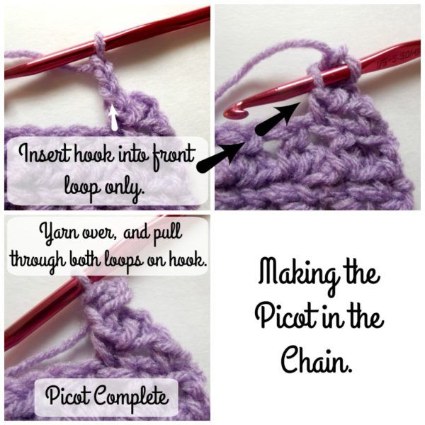how to do a picot stitch in crochet