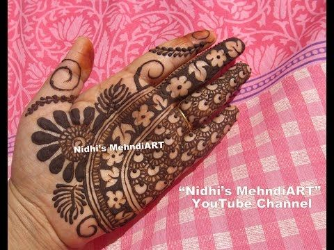 YouTube #unique #new #floral #flower #hebna #mehndi #design #tutorial