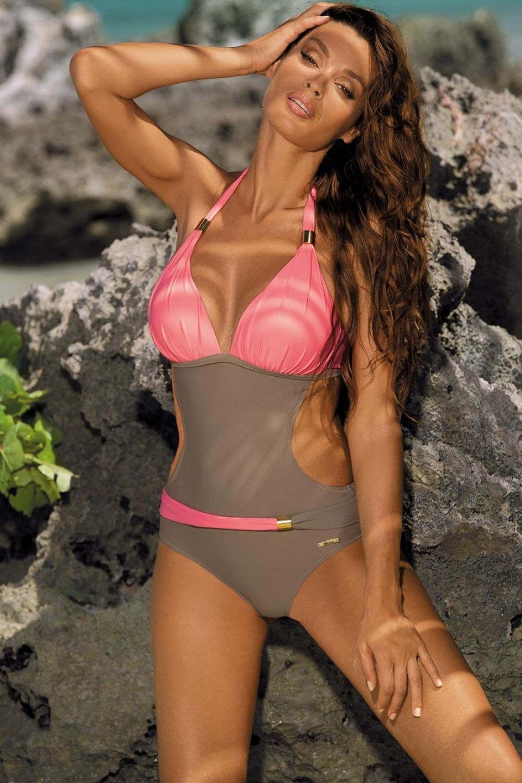 ef2ee37f0c322 Lefeel 2018 Sexy One Piece Swimsuit Women Solid Bikini Bandage Backless  Swimwear Brazilian Biquini Maillot Bathing Suits B550 on Aliexpress.com