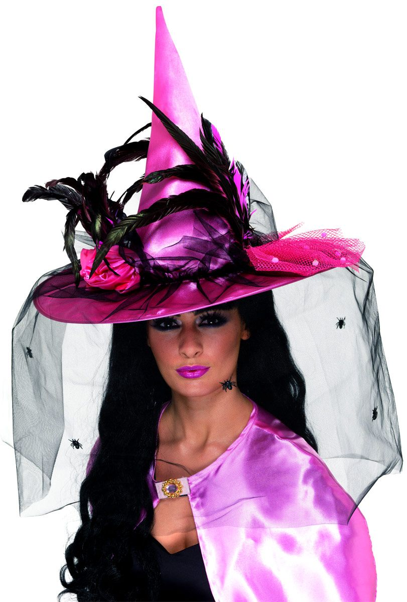 Halloween Witch Hat | Home > Halloween Costumes > Witches Hats > Deluxe Pink Witch Hat