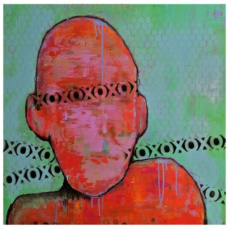 "Original Contemporary Abstract Painting - $650 Est. Retail - $450 on Chairish.com ""Blinded by Love"" 24 x 24."