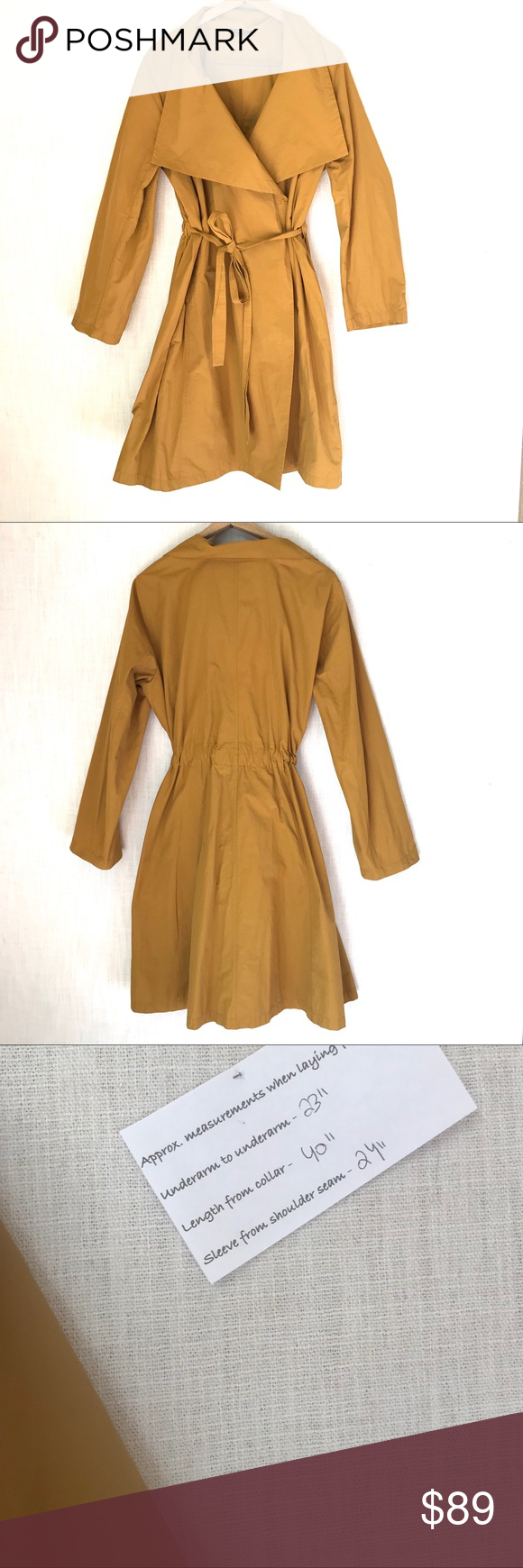 Eileen Fisher Yellow Trench Coat Jacket Parka Yellow Trench Coat Clothes Design Jackets [ 1740 x 580 Pixel ]