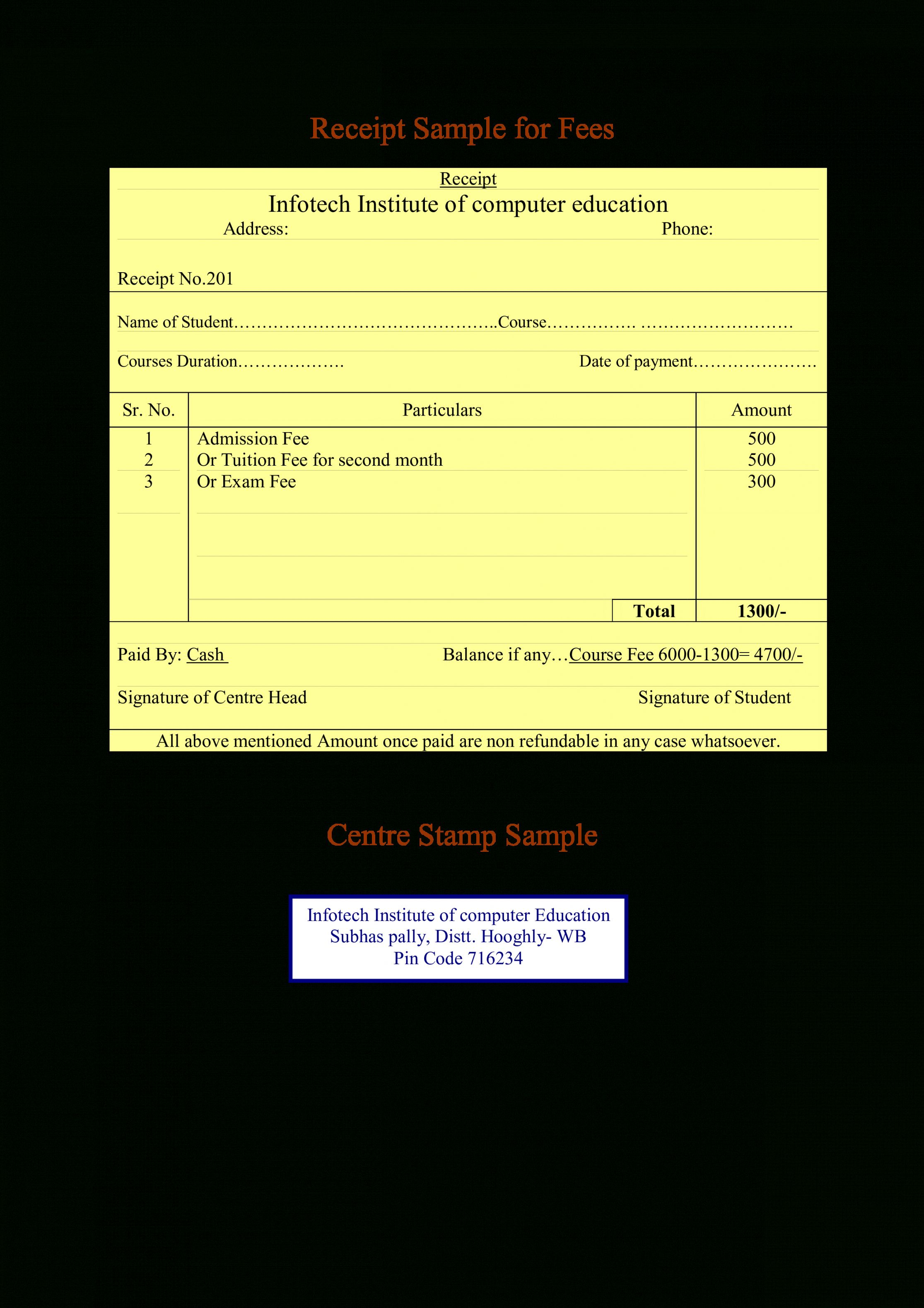 Explore Our Example Of Tuition Fee Receipt Template Receipt Template Tuition Tuition Fees