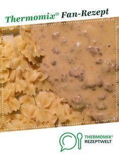 Hackfleisch mit Zwiebel Käse Soße