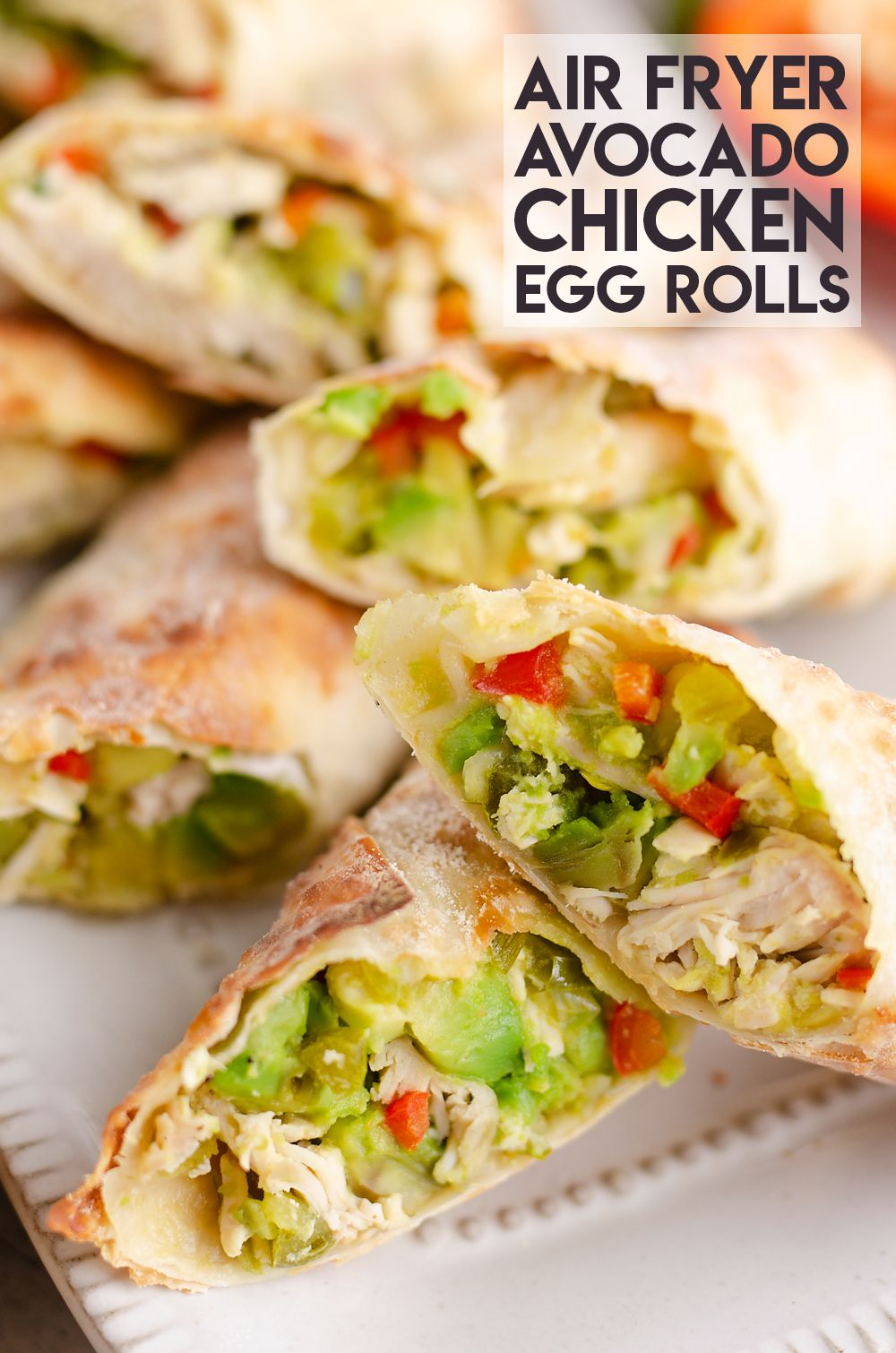 Air Fryer Avocado Chicken Egg Rolls are and easy and