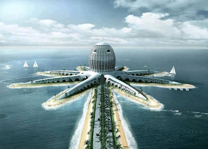 Octopus Hotel Dubai Travel View Buildings Architecture Design Future K Pinterest Building
