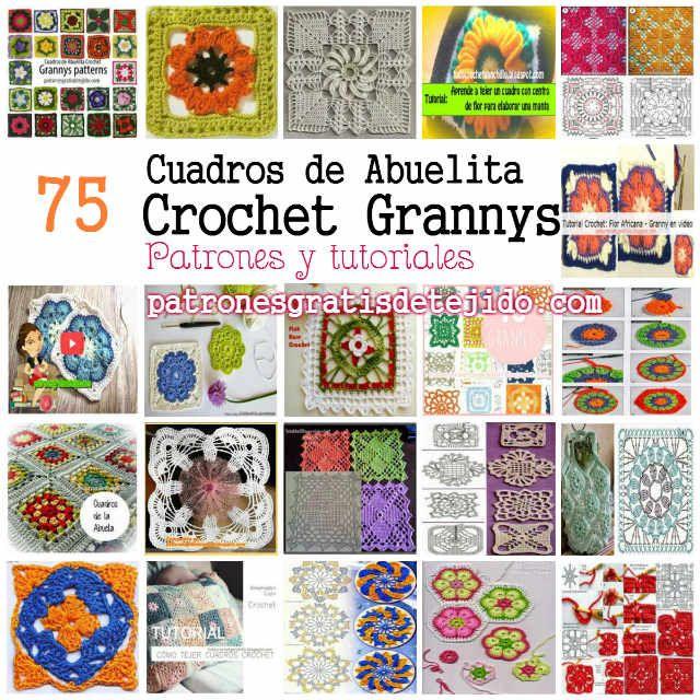 Patrones de grannys coleccion | Ganchillo grannys | Pinterest ...