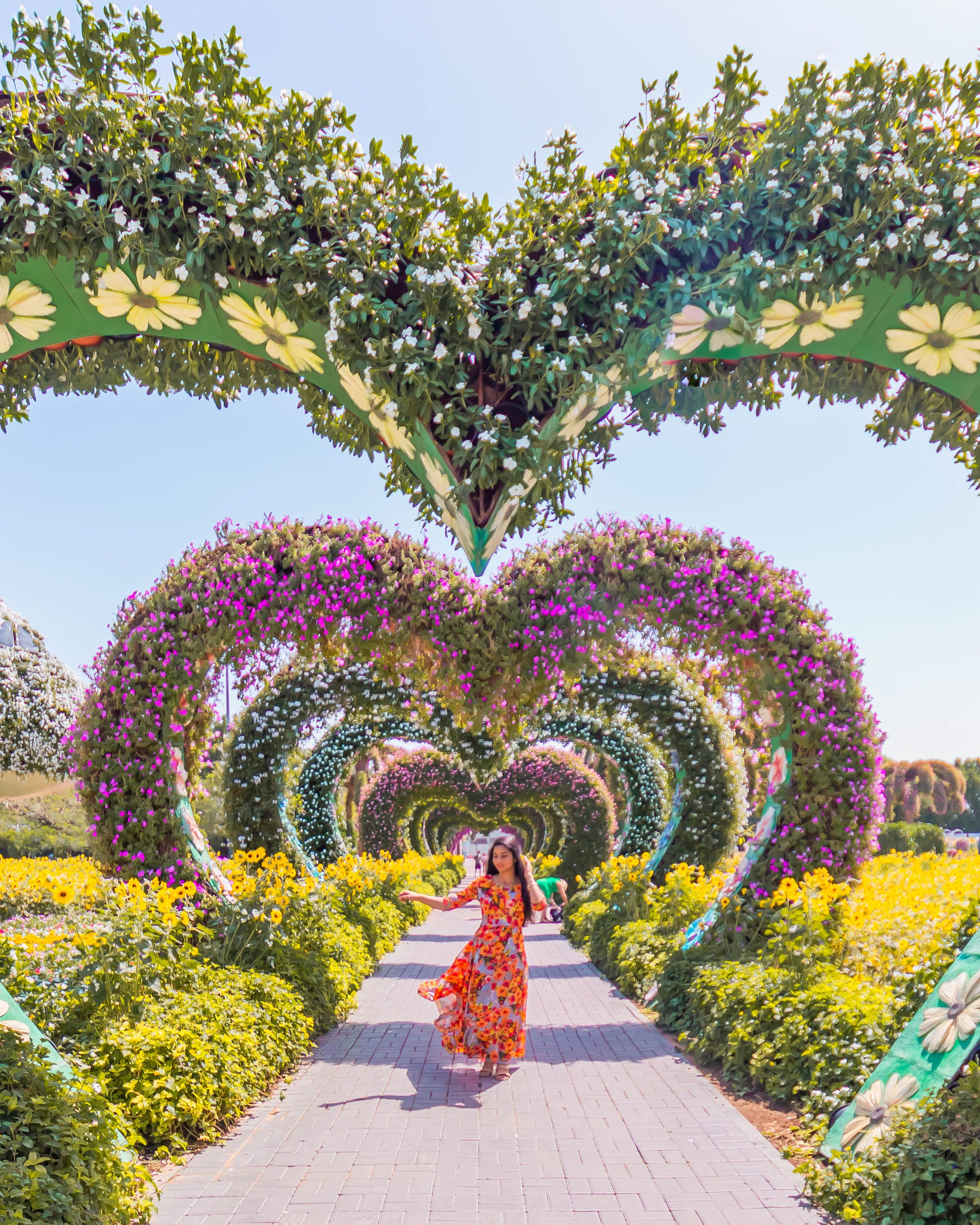 Dancing with joy in the worlds biggest flower land