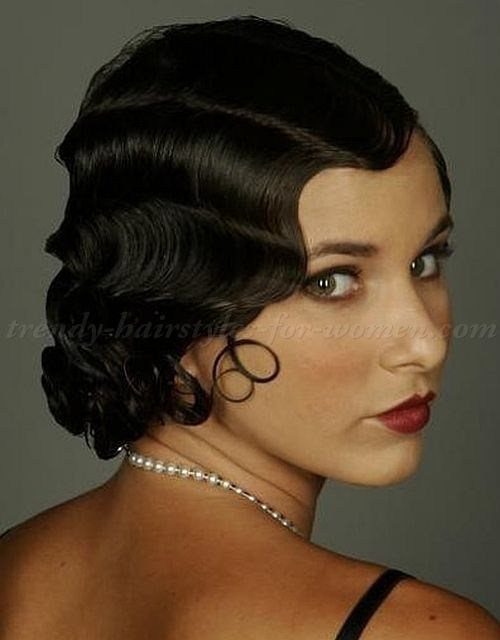 Wavy Medium Length Hairstyles Shoulder Finger Waves Hairstyle