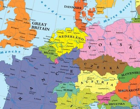 Alternative map of Europe after WWII (by Theodore Kaufman ...