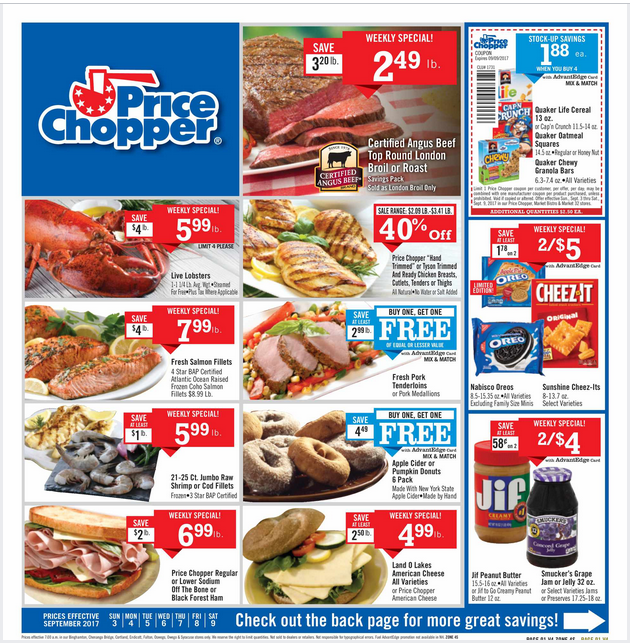 Price Chopper Weekly Flyer September 3 9 2017 httpwww