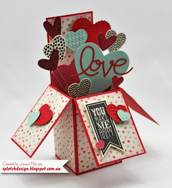Love Card In A Box Box Cards Tutorial Exploding Box Card Pop