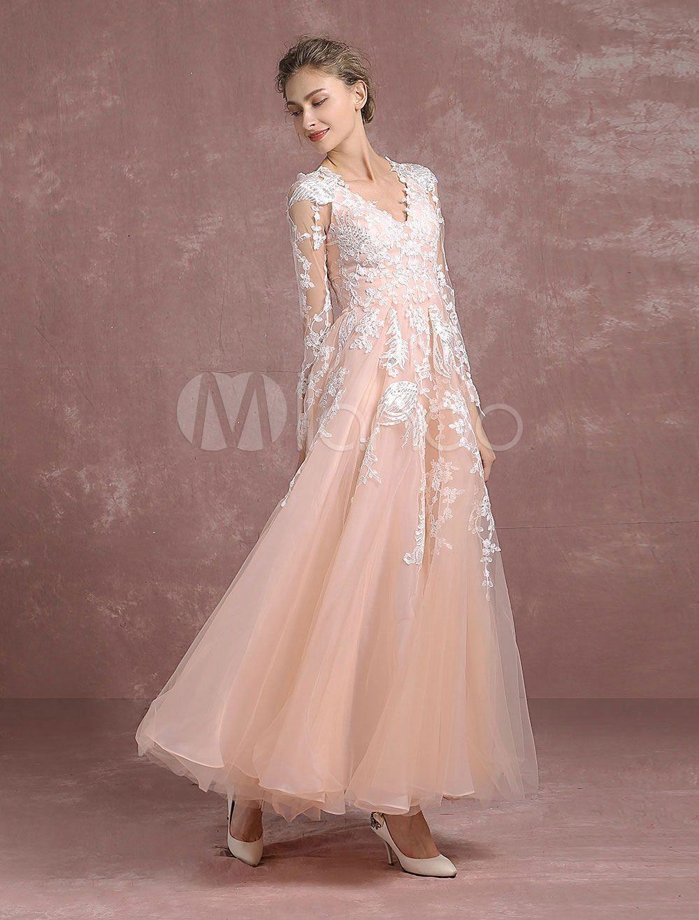 Lace prom dress a line floor length homecoming dress v neck applique