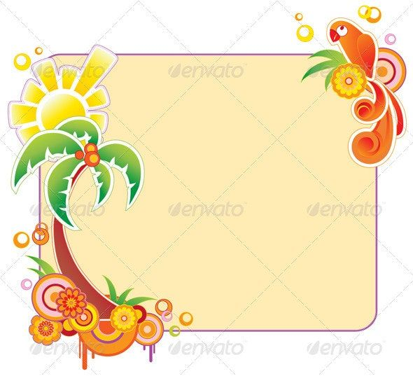 Summer Banner with Palm
