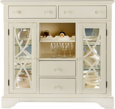 For A Cindy Crawford Home Ocean Grove White Curio At Rooms To Go Find China Cabinets That Will Look Great In Your And Complement The Rest Of
