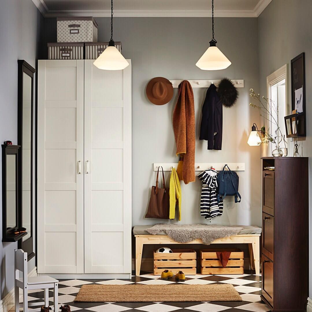 Dressing Ikea Angle Sans Porte clear your entryway of clutter with the #ikea pax wardrobe