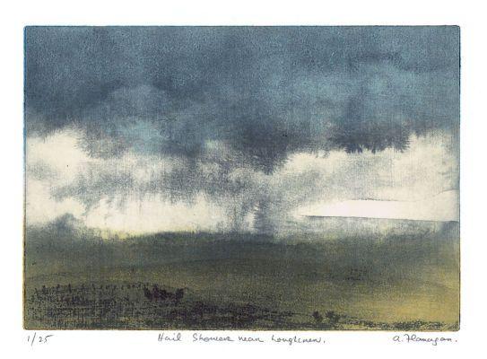 Hail shower near Loughcrew