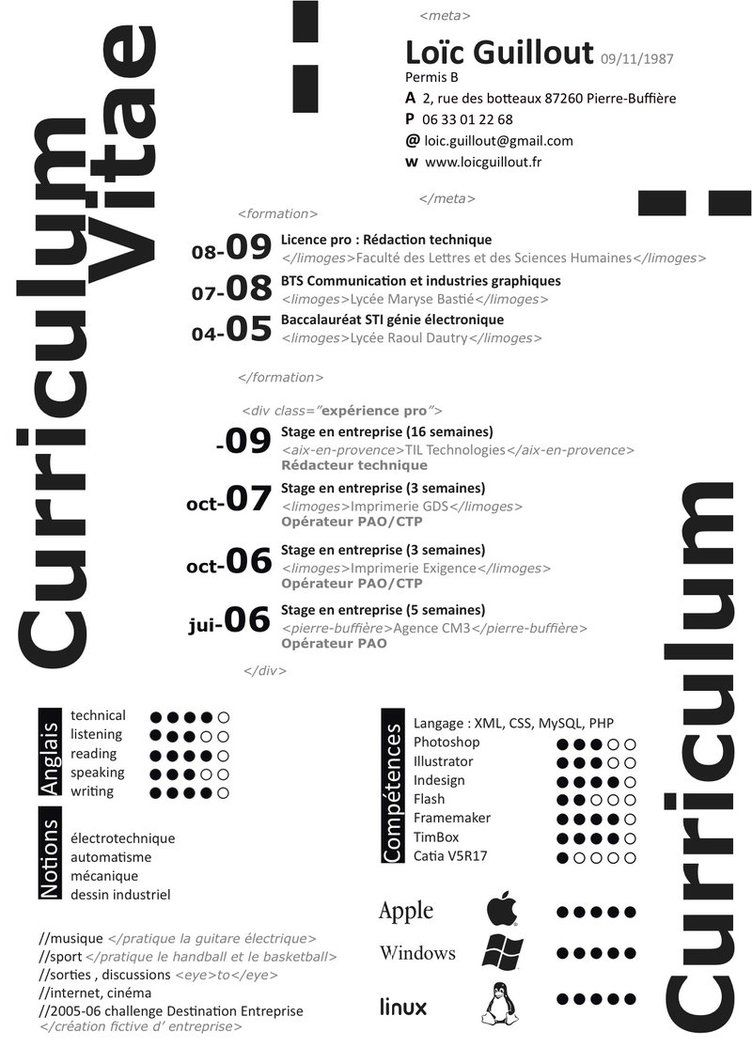 my curriculum vitae by