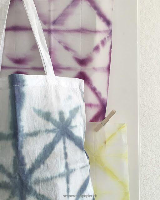 shibori mit farbe aus beeren schaeresteipapier batiken. Black Bedroom Furniture Sets. Home Design Ideas
