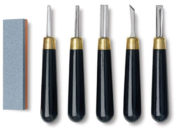 Cutting Rubber Stamp Carving Tools With 5 Blade Bits For Print Making CS