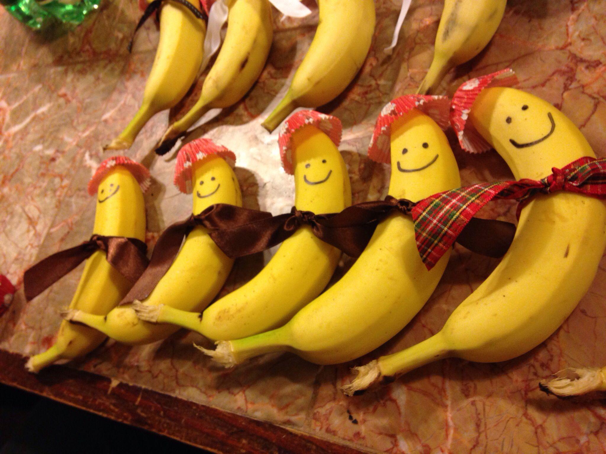 Snow Day Banana People Snacks For Preschool