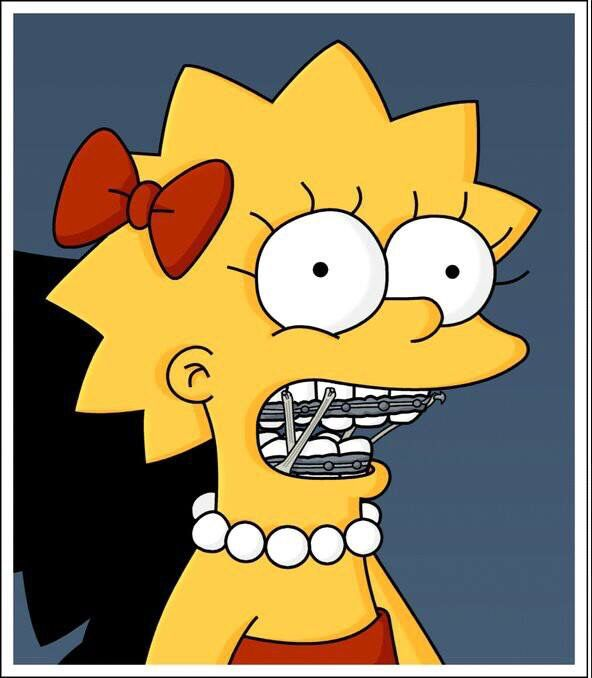 Image result for lisa simpson braces