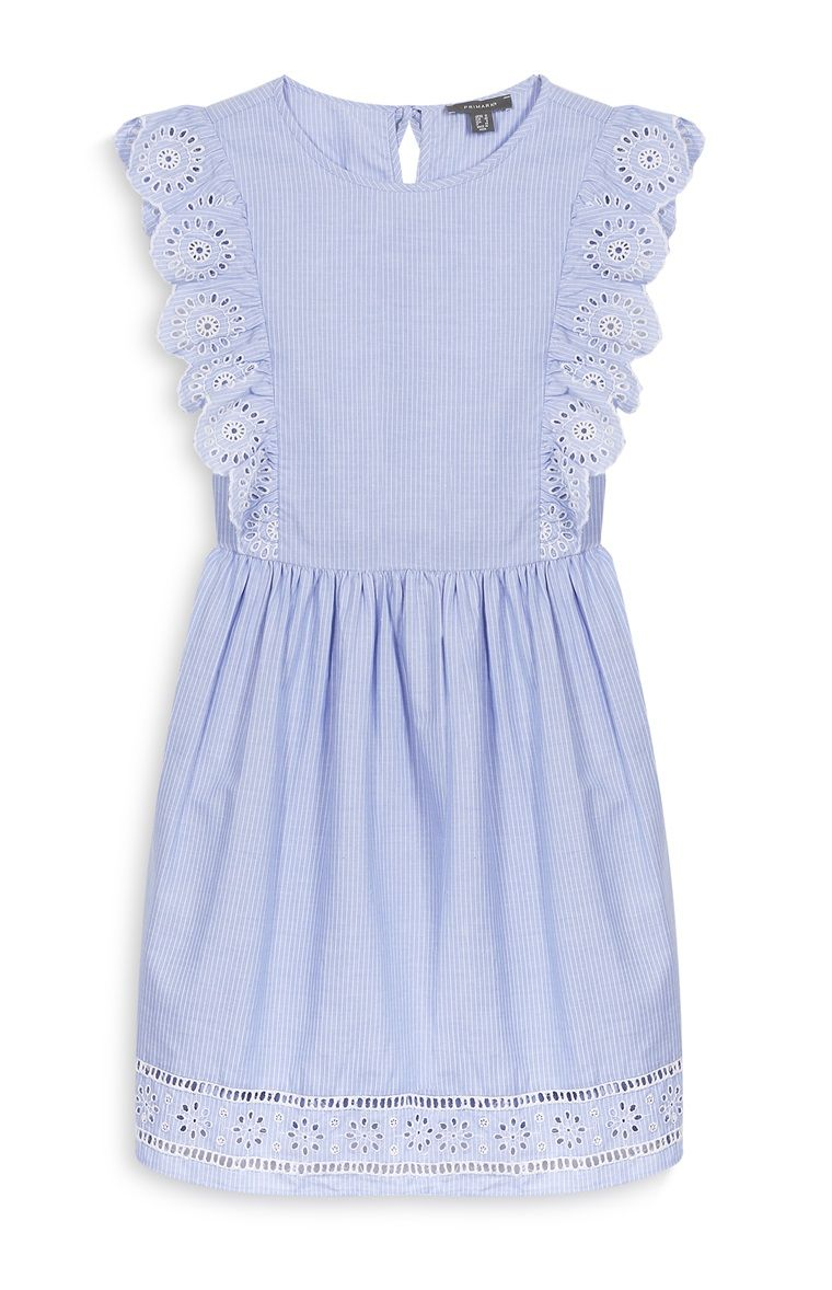 primark - blue frill dress | primark outfit, clothes for