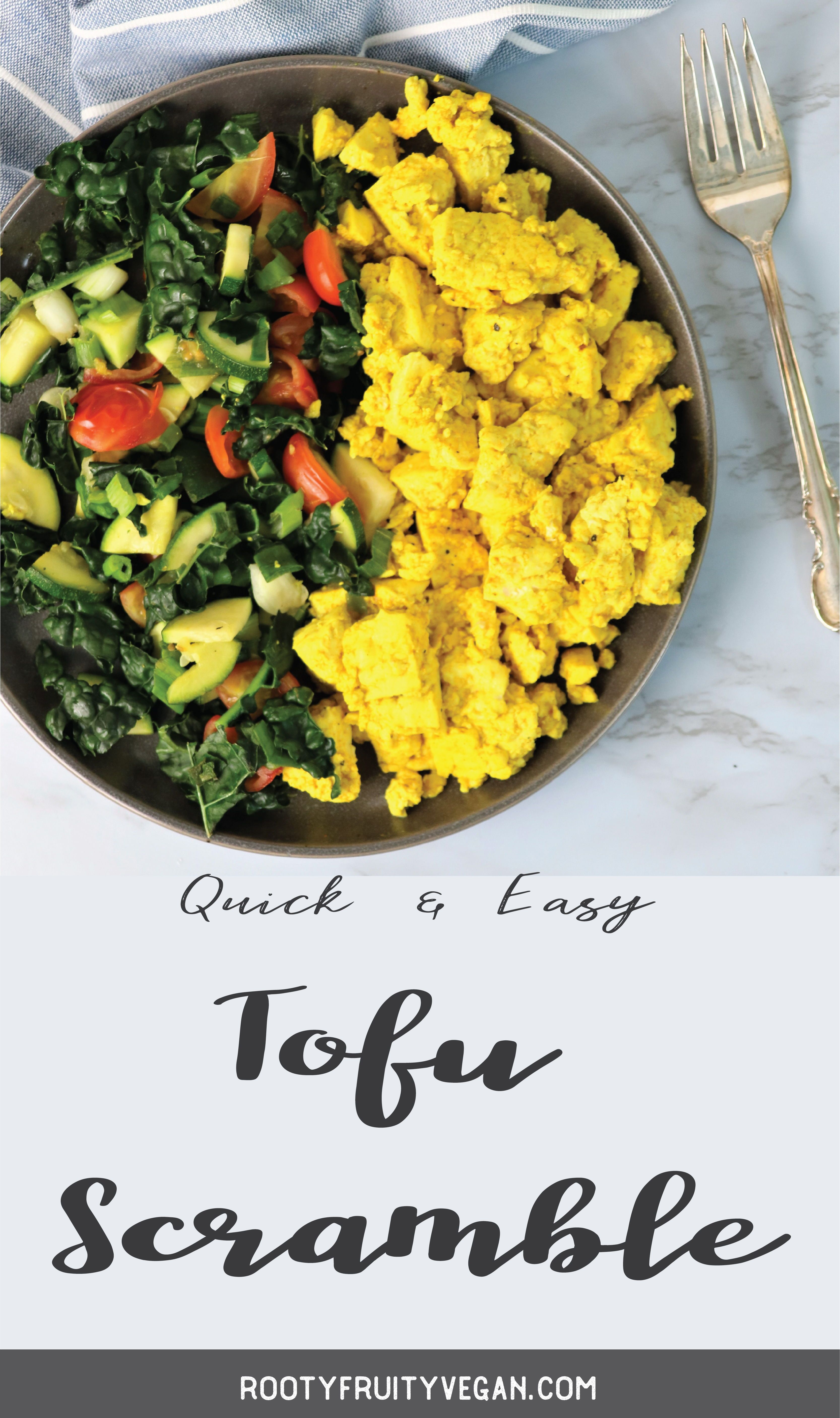 Quick Easy Tofu Scramble Recipe Rooty Fruity Vegan Recipe In 2020 Vegan Recipes Easy Vegan Recipes Beginner Healthy Vegan Breakfast