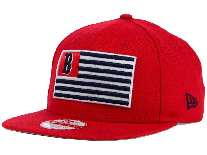 00dbb267eae Boston Red Sox New Era MLB Team Merica 9FIFTY Snapback Cap Hats ...