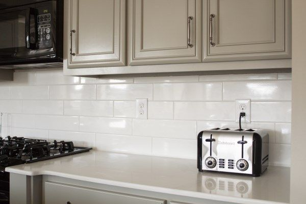 Kitchen Subway Tile Backsplash Kitchen White Subway Tile