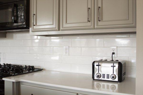 Kitchen Subway Tile Backsplash Kitchen White Subway Tile