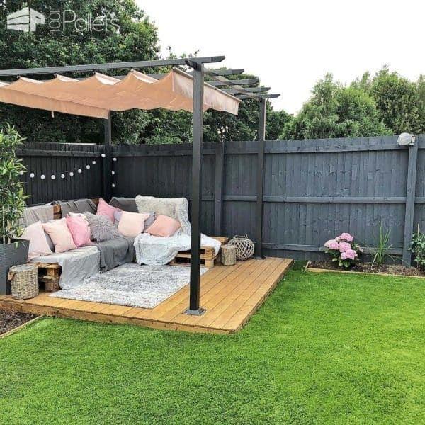 Easy Pallet Corner Sofa #kräutergartenpalette