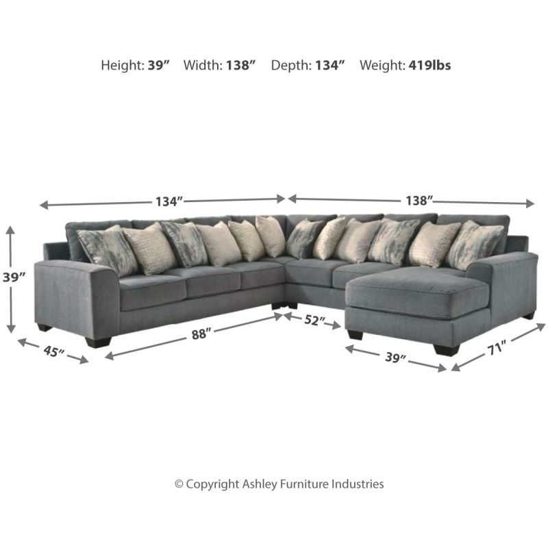 Castano 4 Piece Sectional With Chaise By Ashley Furniture 13302s2 Pierce Furniture Mattress Mattress Furniture Ashley Furniture Furniture