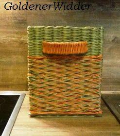 """Плетение из газетных трубочек: Узор """"коса"""". Прямоугольная форма. Фанера."""