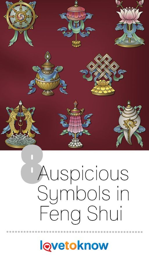 8 Auspicious Symbols In Feng Shui Feng Shui Pinterest Buddhist