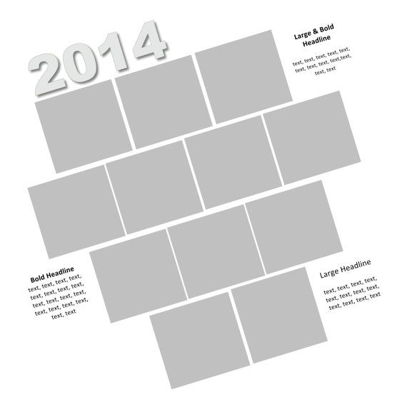 Year in Review 12x12 Scrapbook Page Template used with Storybook - product review template