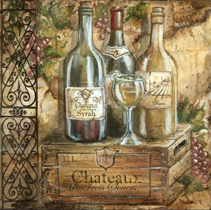 картинки для декупажа бутылки для вина оригинальном разрешении