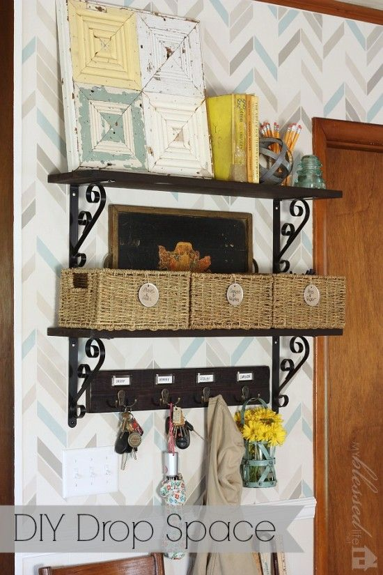 DIY Drop Space {Amazing Before and After} | MyBlessedLife.net | DIY ...