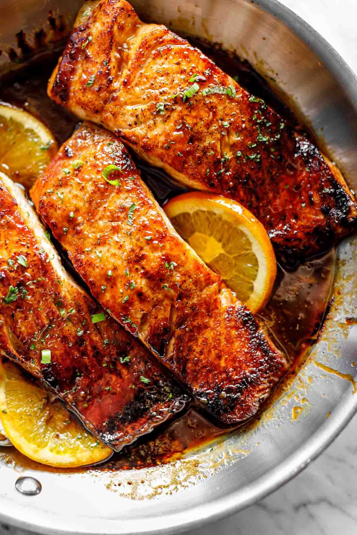 Crispy Honey Orange Glazed Salmon Honey Salmon Recipes Orange Glazed Salmon Crockpot Salmon Recipe