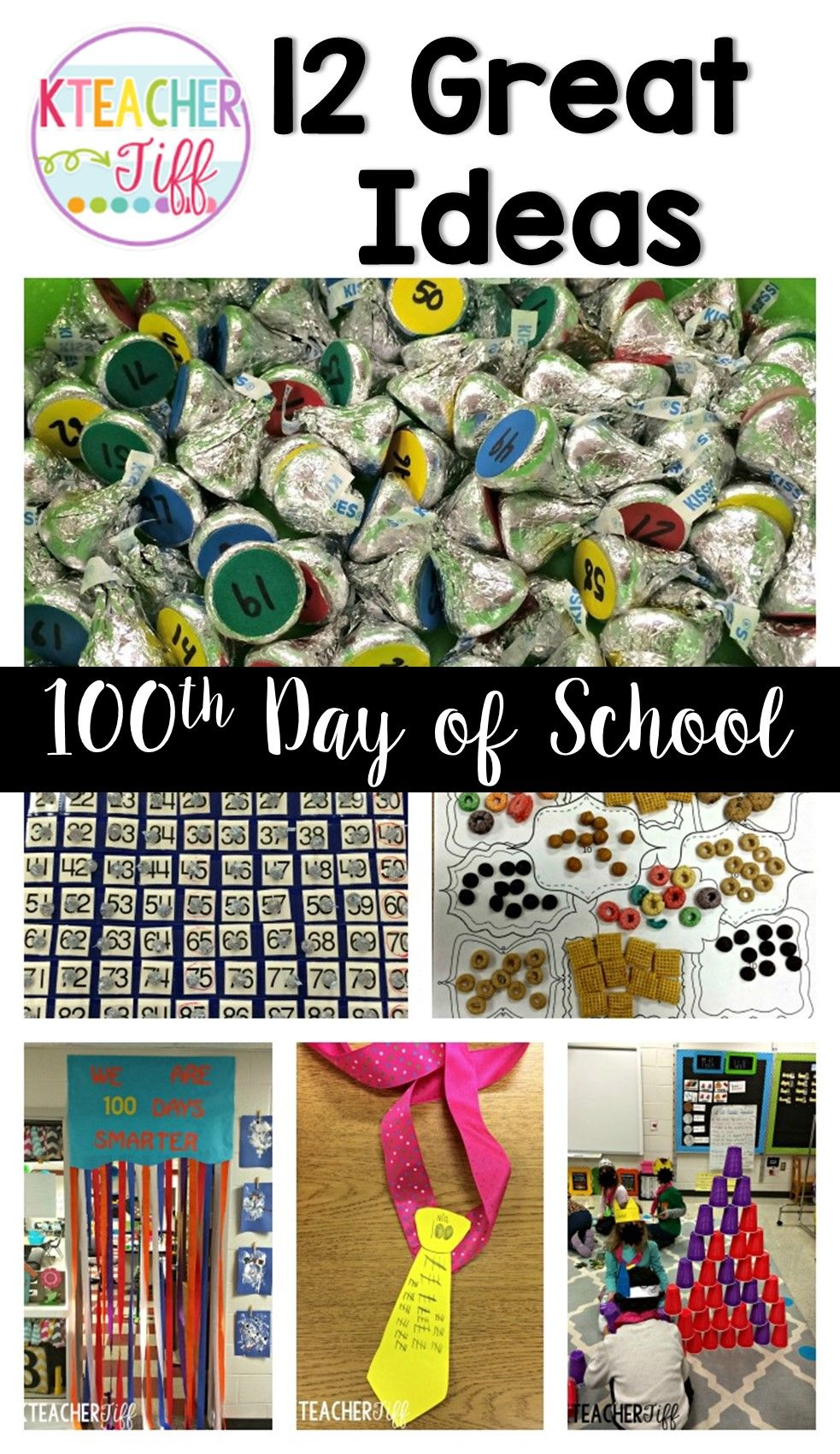 12 great ideas and activities for the 100th day of school in kindergarten. I can't wait to try number 12!