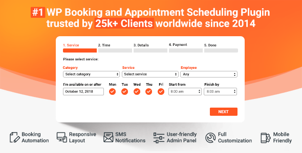 Bookly Pro v17.3 – Booking and Scheduling WordPress Plugin | Web design,  Scheduling software, Plugins