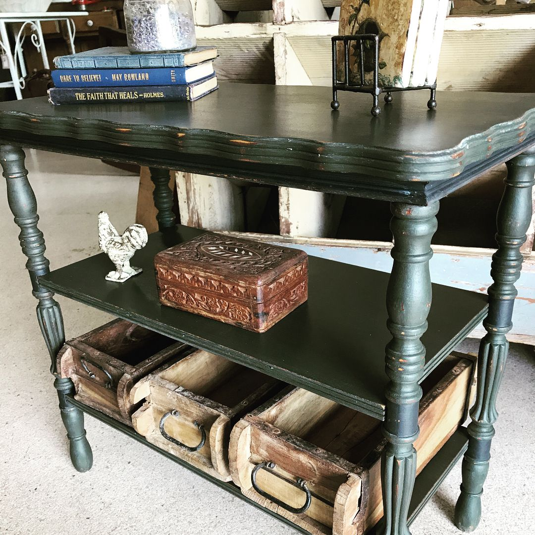 Loved furniture l cece caldwells chalk clay paint l love green